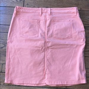 LL Bean Pink Mid Level Jean Skirt Favorite Fit